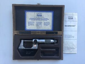 Tesa Isomaster Outside Micrometer 0 25 Mm Metric Swiss Made With Box 44 8