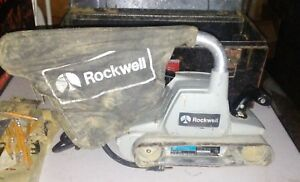 Rockwell Belt Sander Model 362 With Metal Case And Bags Corded 10 5 Amp