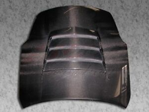 Fits 2003 2005 Nissan 350z Battle Style Carbon Fiber Functional Vented Hood