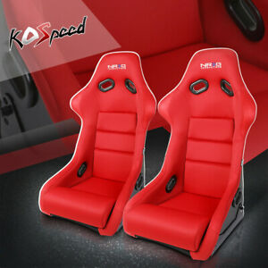 Nrg Driver passenger Side Red Fiberglass cloth Bucket Racing Seat cushion