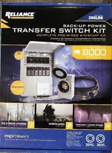 Reliance Controls 306lrk Transfer Switch Kit Back Up Power New No Puerto Rico