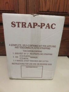 Strap Pac Sp p Strapping Kit 300 Plastic Buckles Tool Polypropylene 3000 Ft 300