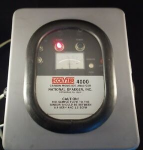 National Draeger Inc Ecolyzer 4000 Carbon Monoxide Analyzer P n 4500208