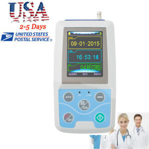Contec 24h Ambulatory Blood Pressure Monitor Abpm Holter Ecg Ekg Systerm Nibp Ce