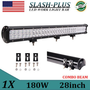 28inch 396w Cree Led Combo Light Bar Tri row Offroad Truck 4wd Fog 7d Vs 180 32