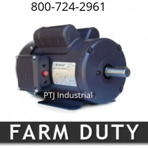 1 5 Hp Electric Motor 56h 1800 Rpm Single Phase Farm Duty 1 Phase