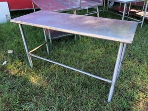 Stainless Steel 60 X 24 Heavy Duty Island No Edge Commercial Prep Work Table