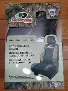Brand New Retail Box Mossy Oak Break Up Country Camo Low Back Seat Cover