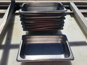 10 Pro Advantage Stackable Stainless Steel Insert Food Serving Buffet Pans