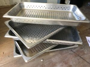 5 Stainless Steel Heavy Duty 20 5 X 12 5 Perforated Holes Insert Steam Pans