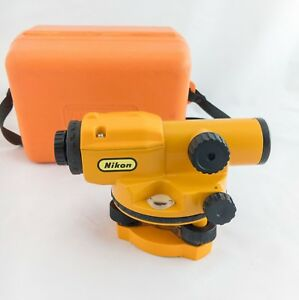 Nikon Ax 1 18x Optical Theodolite Automatic Level W Orange Case