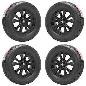18 Fits Nissan Murano Black Wheels Rims Tires Factory Oem Set 62706