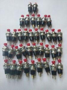 Momentary Push Button Switch 2 Prong Set Of 37 Ts