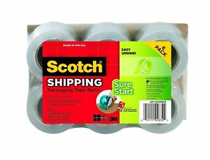 Scotch Dp 1000rf6 Packaging Tape 1 88 Inches X 900 Inches 6 pack New