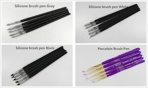 Dental Porcelain silion Brush Pen Teeth Lab Enamel Brushes 1set 5pcs