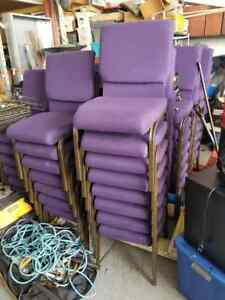 Lot Of 59 Used Purple Church Chairs Worship Banquet Local Pick up Only In Il