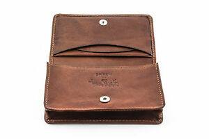 Tony Perotti Front Pocket Leather Business And Credit Card Case Wallet In Cognac