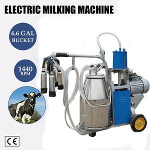 Electric Vacuum Piston Pump Milking Machine 25lbucket Farm Cow cattle Goat sheep