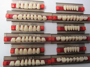 5box Full Set Dental Synthetic Resin False fake Teeth Denture A2 Color 84pc 419