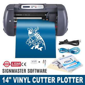 14 Vinyl Cutting Plotter Sign Cutter Heat Transfer Usb Port 3 Blades Pro