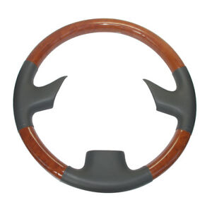 Gray Lether Brown Wood Steering Wheel Cover For 99 05 Lexus Rx300 Gs300 400 430