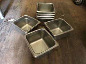 7 Stainless Steel Insert Steam Table Pans Dressing Sauce Condiments 4 Deep
