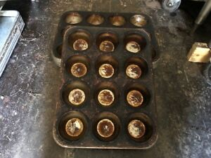 6 Chicago Metallic 369f 12 slot Commercial Muffin Pecan Roll Baking Bakery