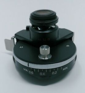 Zeiss Microscope Swing Out Condenser 0 6 Achromatic Aplanatic Pol