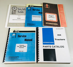International 354 Tractor Service Parts Operators Manual Chassis Engine Shop Set