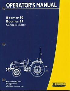 New Holland Boomer 30 35 Compact Tractor Operator Manual 84471926