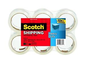 Scotch Heavy Duty Shipping Packaging Tape 1 88 Inches X 54 6 Yards 6rolls