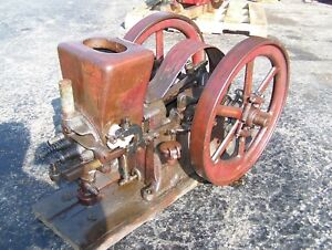 Old Original Associated 2 1 2hp Hired Man Hit Miss Gas Engine Steam Tractor Nice
