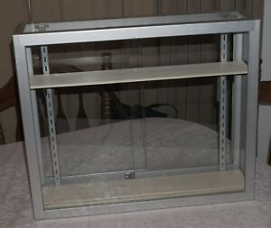 Glass Metal Display Case Grid Wall With Baskets Hangers More 151 New Tote Bags