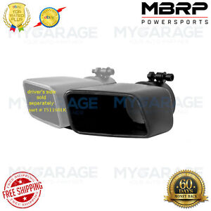 Mbrp Tip 4 x 3 rectangle angled Cut 3 O d Inlet Pass Side Black T5120blk