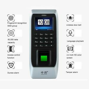 Fingerprint Time Attendance Access Control High Resolution Attendance Terminal