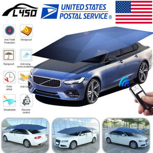 Us Universal Automatic Car Umbrella Tent Remote Control Waterproof Shade Cover