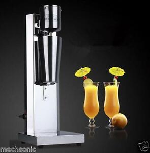 Stainless Steel Single Head Milk Shake Machine Electric Bubble Tea Mixer 220v S