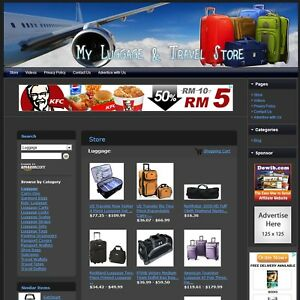 Luggage And Travel Store Fully Automated Affiliate Website Business For Sale