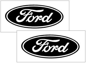 2 Ford Oval Logo Vinyl Decal Sticker Auto Car Truck Hood Cell Laptop Wall Svt