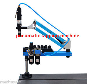 Universal Flexible Arm Pneumatic Air Tapping Machine 360 Angle 1500mm M3 m12 S