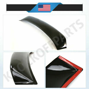 Fit 06 11 Honda Civic Coupe Rear Window Roof Visor Sun Guard Spoiler Wing Smoked