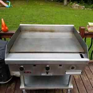 South Bend Hdg 36 36 Heavy Duty Commercial Propane Griddle With Wheeled Cart