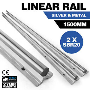 Sbr20 1500 20mm 2x Linear Rail Set Cnc Grinding Smooth Sliding Unique