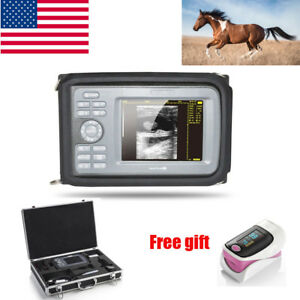 Veterinary Portable Digital Ultrasound Scanner Rectal Probe With Carry Box Usa