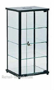 Display Case Countertop Black Glass Retail Merchandise Jewelry 27 X 12 X 14