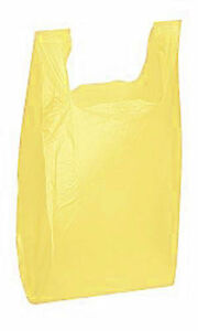 Plastic Grocery T shirt Bags 2000 Small Yellow Retail Merchandise 8 X 5 X 16