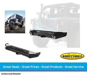 Smittybilt Xrc Gen2 Rear Bumper W Aux Back Up Lights For Jeep Jk Wrangler