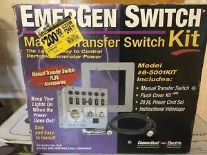 Emergency Switch Manual Switch Kit 6 5001 Kit New Old Stock Emergen Switch
