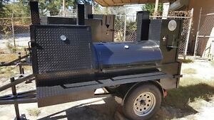 Mini Hogzilla Bbq Smoker Cooker Grill Trailer Tailgate Truck Catering Business