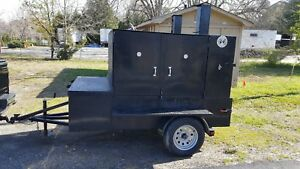 Big Butt Bbq Smoker Insulated Trailer Food Grill Truck Concession Street Vendor